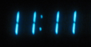 my favorite time to see on a digital clock whenever john or i notice it we always say u201celeven elevenu201d i suppose unless we are in some sort of