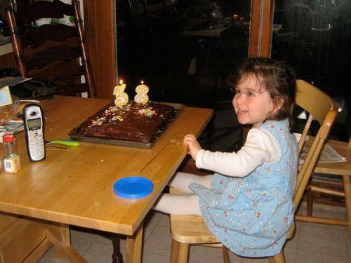 Phoebe loves birthdays.