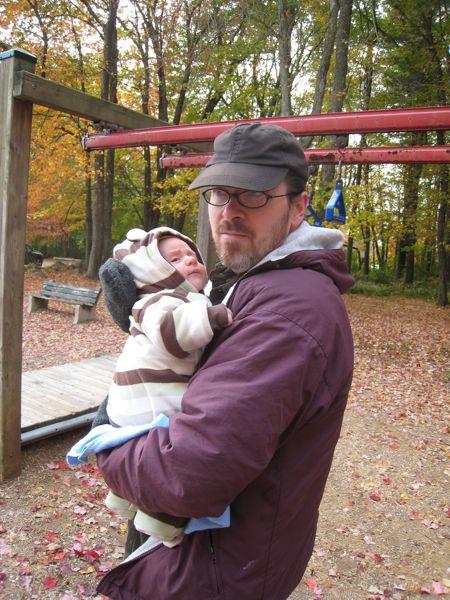 John and Theo at the playground.