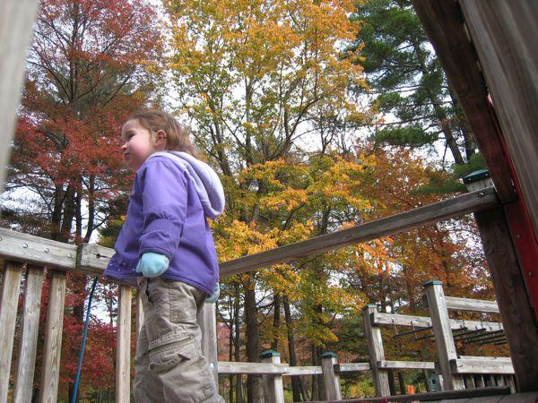 Phoebe at the playground.