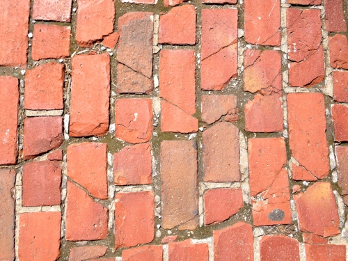 brick, cracks