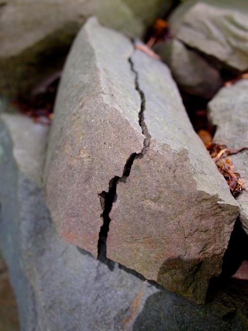 cracked rock